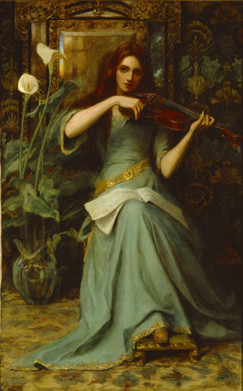 Girl with a Violin by Henry Harewood Robinson (1884-1896)