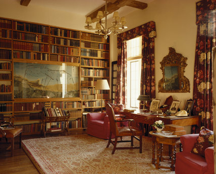 Library at Chartwell, home of Sir Winston Churchill from 1924