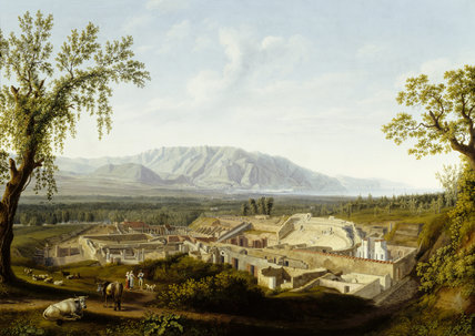 THE RUINS OF POMPEII by Jacob Philipp Hackert (1737-1807) from Attingham Park