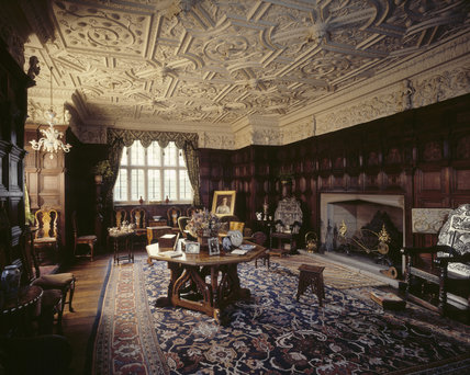 The Drawing Room At Gawthorpe Hall Showing Jacobean