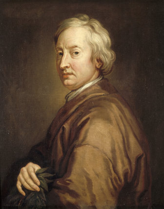 Portrait of JOHN DRYDEN, POET LAUREATE (1631-1700), studio of Sir Godfrey Kneller, that hangs in the Dining Room of Canons Ashby