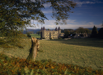 The west front of Newton House, the Victorian-Gothic mansion in Dinefwr Park