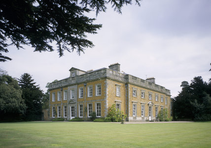 View of Farnborough Hall showing the south and west facades across the lawn mid 18th century