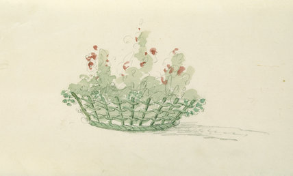 DESIGN FOR BASKET CONTAINER FOR FLOWERS AT BELTON HOUSE c1818 by Elizabeth Cust (1776-1858)