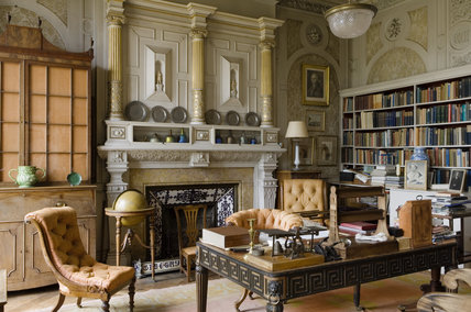 The Study in the new house at Scotney