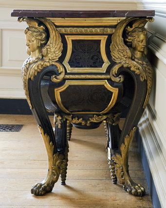 Boulle commode in the Carved Room at Petworth House, West Sussex