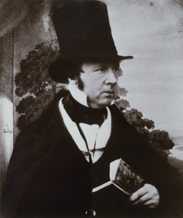 Photograph of William Henry Fox Talbot from a daguerrotype made by Antoine Claudet c.1845/46 at Lacock Abbey.
