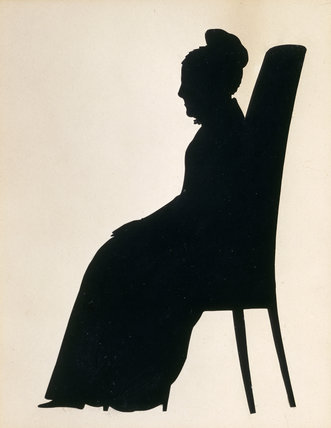 1820s silhouette of Elizabeth Hanbury Read, widow of Benjamin Mander, as an old lady, (she died in 1828), at Wightwick Manor