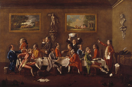 A PUNCH PARTY by Thomas Patch 1725-1782, signed and dated 1760