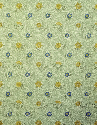 Dressing Room Powdered Wallpaper by William Morris, Standen House
