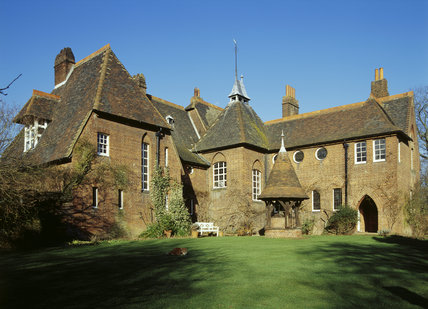 Exterior View Of Red House Built For William Morris By Phillip Webb,  1859 60, Showing The Inner Side Of L Shaped Building, With Staircase Tower,  ...