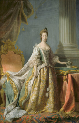 Portrait Of Queen Charlotte By Allan Ramsay After