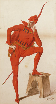 HENRY IRVING AS MEPHISTOPHELES IN FAUST by P. Calvert