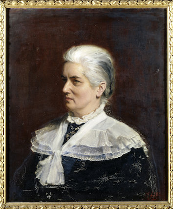 CHARLOTTE M. YONGE, the celebrated Victorian novelist, by John Henry Lorimer, 1882, at Tyntesfield.
