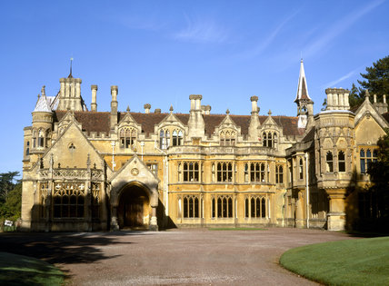 the east front of tyntesfield a victorian gothic revival house