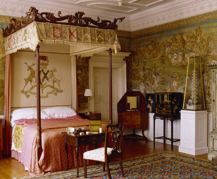 The Chinese Bedroom At Blickling Hall With The Bed C. 1760