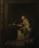 Chardin / The Ledger / Painting / c.1746