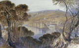 E.Lear, View of Villefranche, 1865.