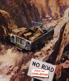 Land Rover Series I 86 inch 1954 'No road except for Land Rover'