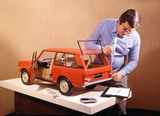 Making a wooden styling model of the Range Rover 1969
