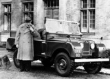 Winston Churchill with Land Rover Series I shortweelbase 1959