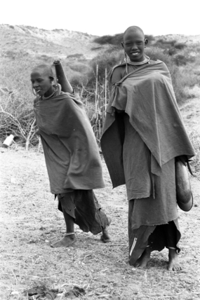 Maasai women with gourds
