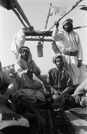 Arab men in a dhow