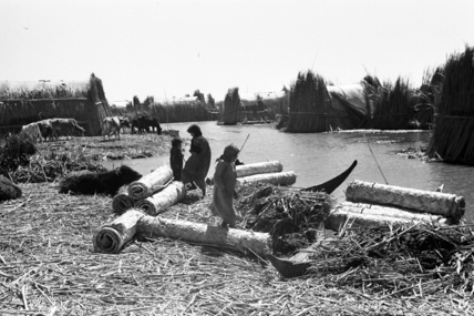 Reed mats at a settlement in the Marshes