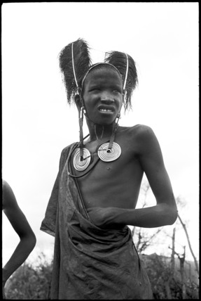 Maasai youth wearing metal earrings