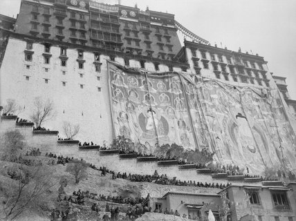 Banners on the Potala during Sertreng