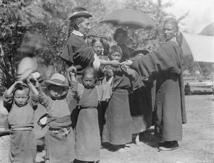 Group in park in Lhasa