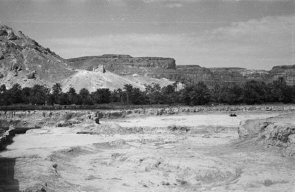 View of sandy excavations in ...