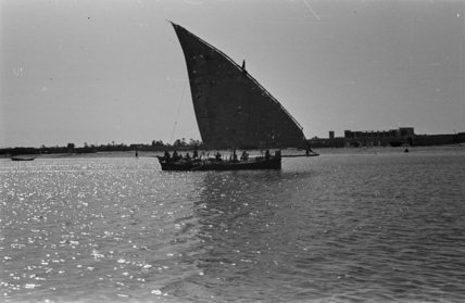 View of a dhow (sailboat) ...