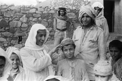 Group portrait of Arab teenaged ...