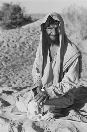 Seated portrait of a Bedouin ...