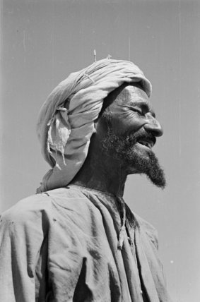 Profile portrait of a tribesman ...