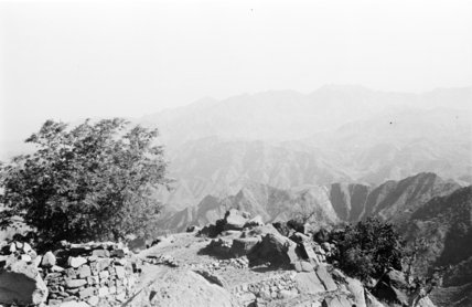 Mountain landscape at Jabal Fayfa. ...