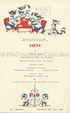 Menu card from the 'P&O Pups' Series