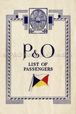 P&O Passenger list for RAJPUTANA, 1935