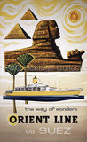 The way of wonders - Orient Line via Suez