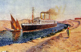 Orient Line ship in CANAL