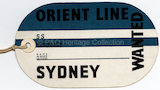Orient Line baggage label