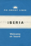 Leaflet for IBERIA 'Welcome on board'