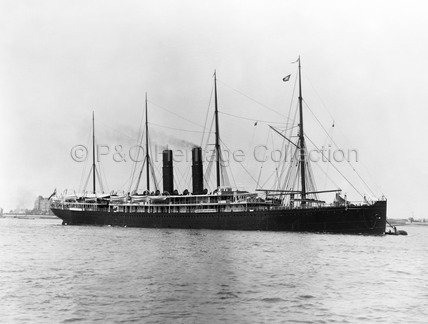 AUSTRAL at anchor