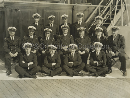Captain and Officers onboard STRATHMORE
