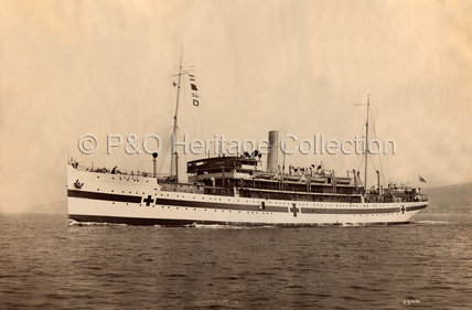VASNA at sea as a Hospital Ship