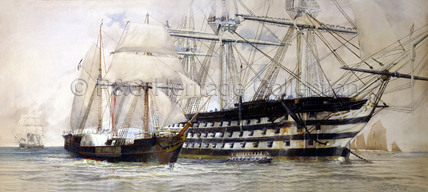 WILLIAM FAWCETT and HMS Queen in 1837