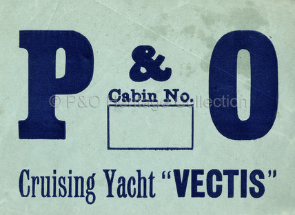 P&O Baggage Label for VECTIS