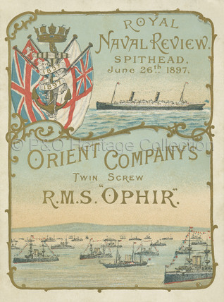 Royal Naval Review Menu 1897