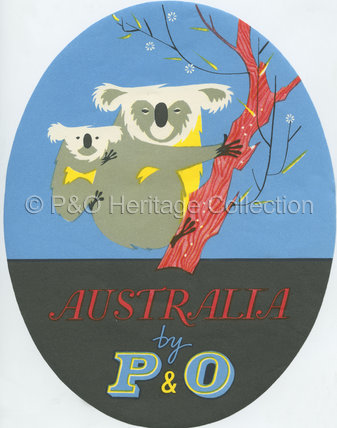 Baggage Label - 'Australia by P&O'